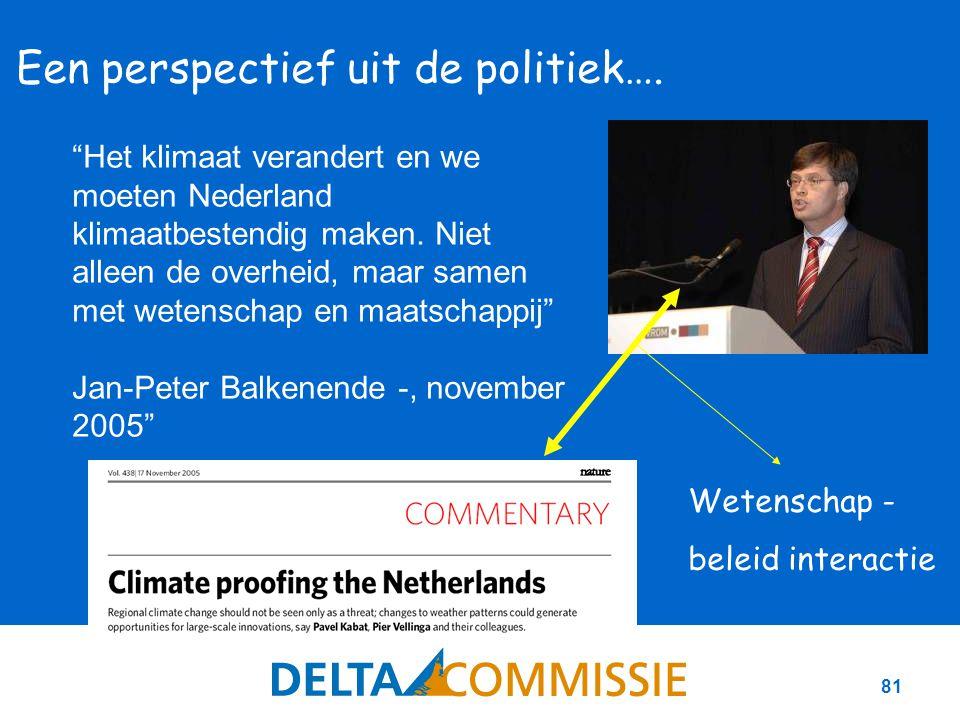 81 Een perspectief uit de politiek….