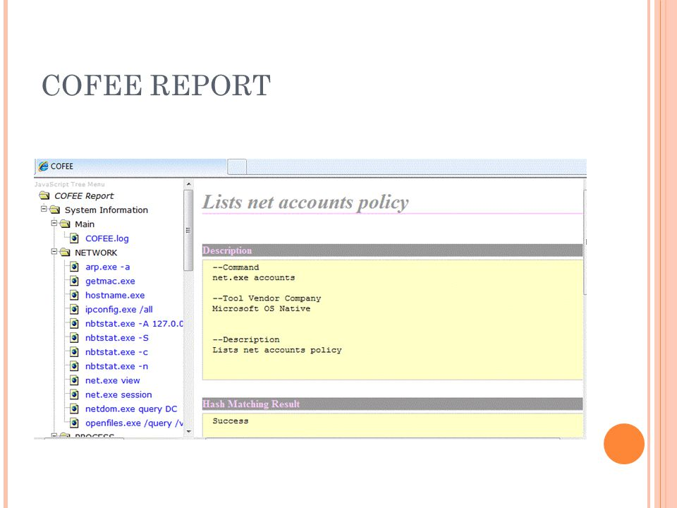 COFEE REPORT