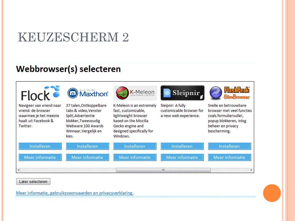 KEUZESCHERM 2