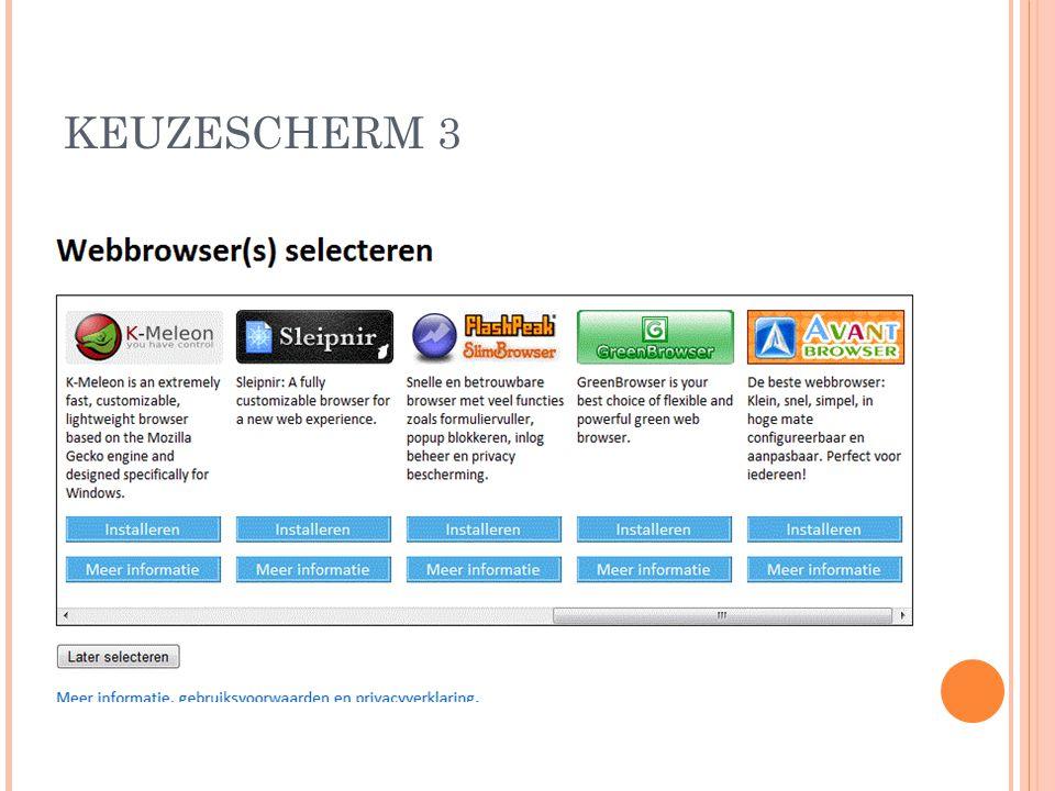 KEUZESCHERM 3