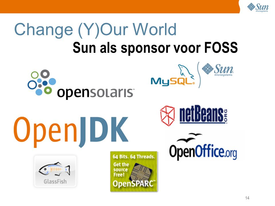 14 Change (Y)Our World Sun als sponsor voor FOSS