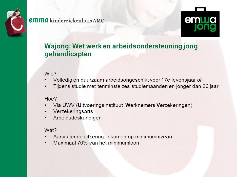Wajong: Wet werk en arbeidsondersteuning jong gehandicapten Wie.