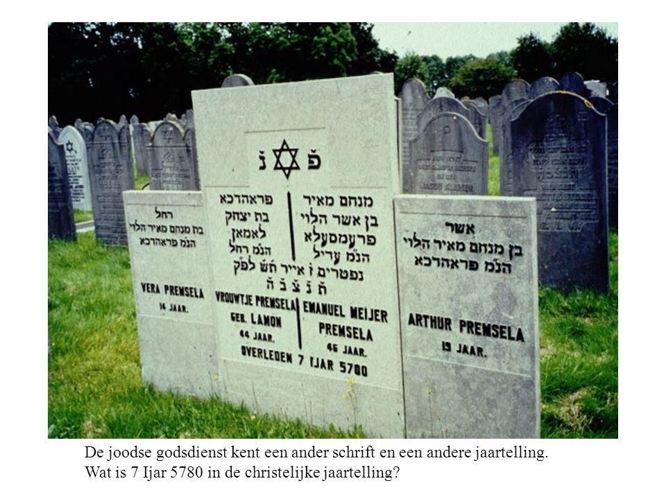 De joodse godsdienst kent een ander schrift en een andere jaartelling.