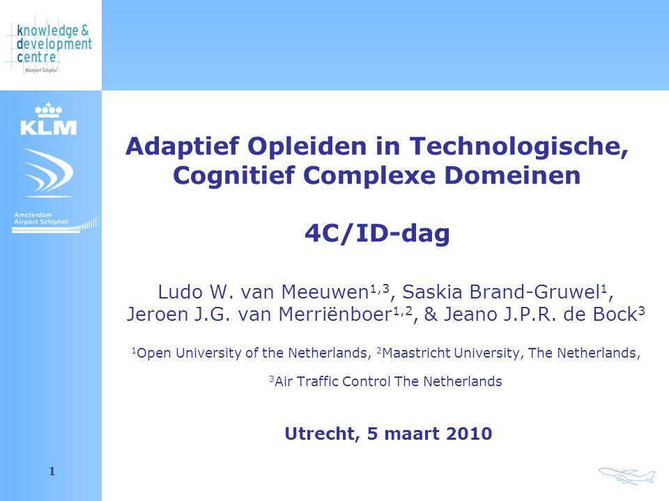 Amsterdam Airport Schiphol 1 Ludo W. van Meeuwen 1,3, Saskia Brand-Gruwel 1, Jeroen J.G.