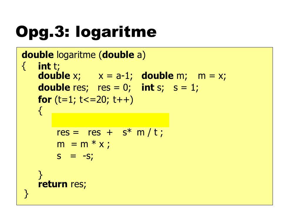 Opg.4: vijver void init( ) { } class Vijver extends Applet { void paint(Graphics g ) { } Button b; b = new Button( meer ); this.add(b); b.addActionListener(this); implements ActionListener void actionPerformed(AE e ) { } this.steen(g, 60, 140); this.steen(g, 100, 200); this.steen(g, 150, 180); this.steen(g, 175, 125); void steen(Graphics g, int x, int y ) { } g.drawOval( int t; for (t=1; t<=n; t++) int n; n = 1; n ++ ; this.repaint(); x-t*a, y-t*a, 2*t*a, 2*t*a); int a; a = Integer.parseInt(getParameter( afstand ));