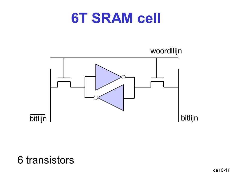 6T SRAM cell ca10-11 woordllijn bitlijn 6 transistors