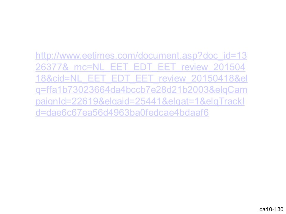 ca10-130 http://www.eetimes.com/document.asp?doc_id=13 26377&_mc=NL_EET_EDT_EET_review_201504 18&cid=NL_EET_EDT_EET_review_20150418&el q=ffa1b73023664da4bccb7e28d21b2003&elqCam paignId=22619&elqaid=25441&elqat=1&elqTrackI d=dae6c67ea56d4963ba0fedcae4bdaaf6