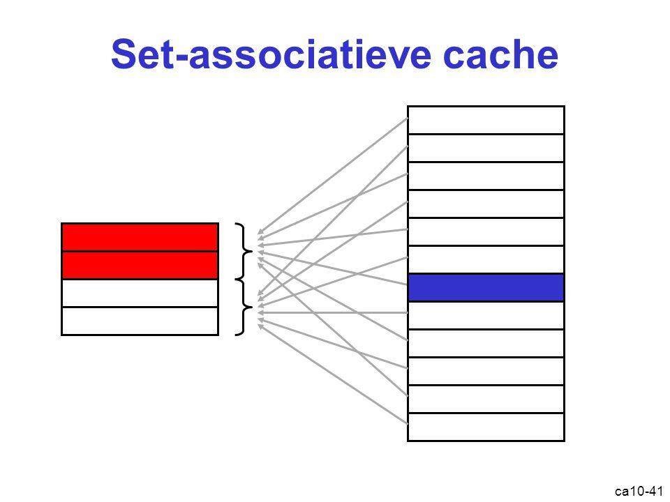 ca10-41 Set-associatieve cache