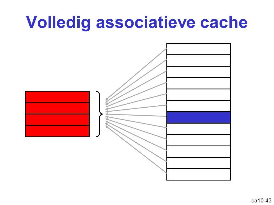 ca10-43 Volledig associatieve cache Cache: volledig associatief