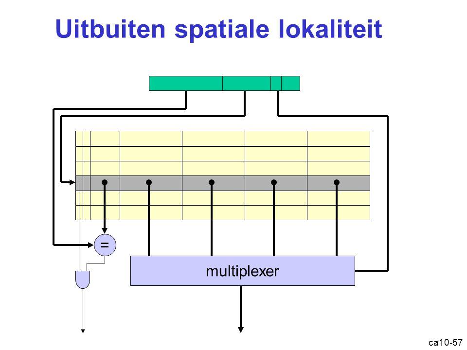 ca10-57 Uitbuiten spatiale lokaliteit = multiplexer