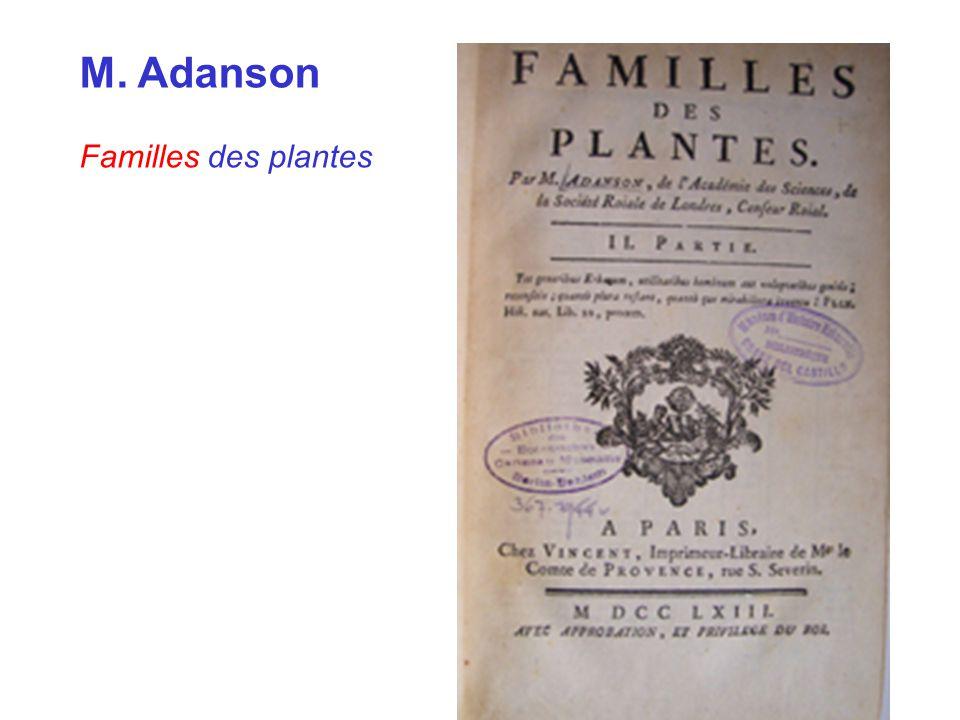M. Adanson Familles des plantes