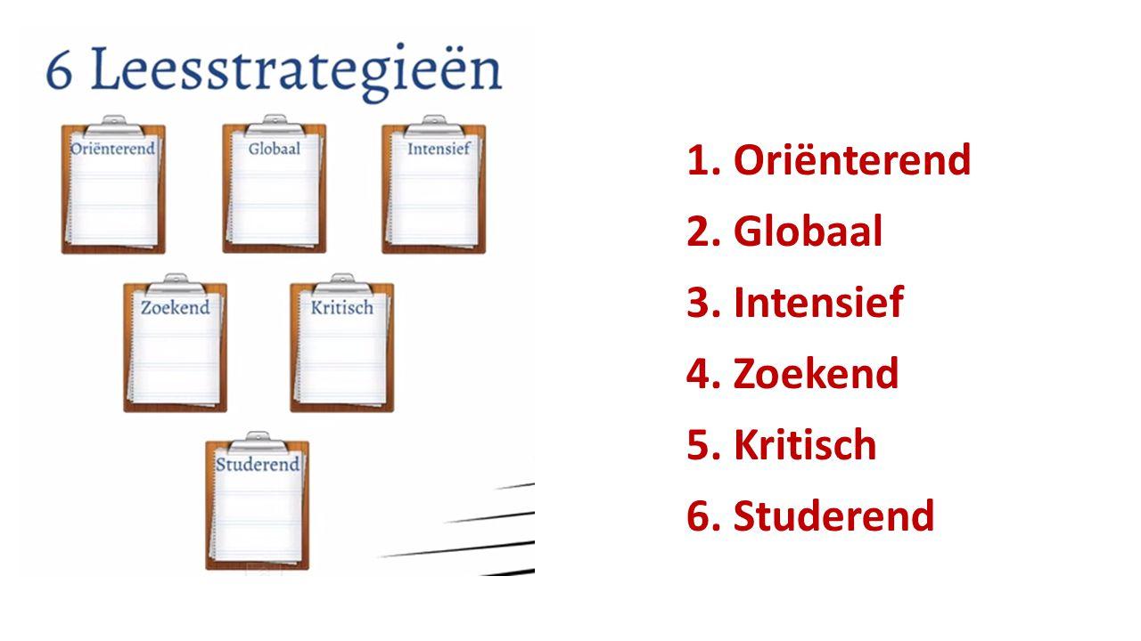 1. Oriënterend 2. Globaal 3. Intensief 4. Zoekend 5. Kritisch 6. Studerend