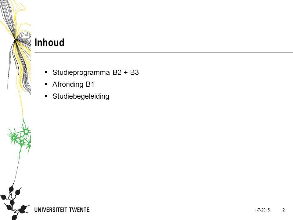 13 1-7-2015 13 Afronding B1: Bindend studieadvies (OER R7) A.