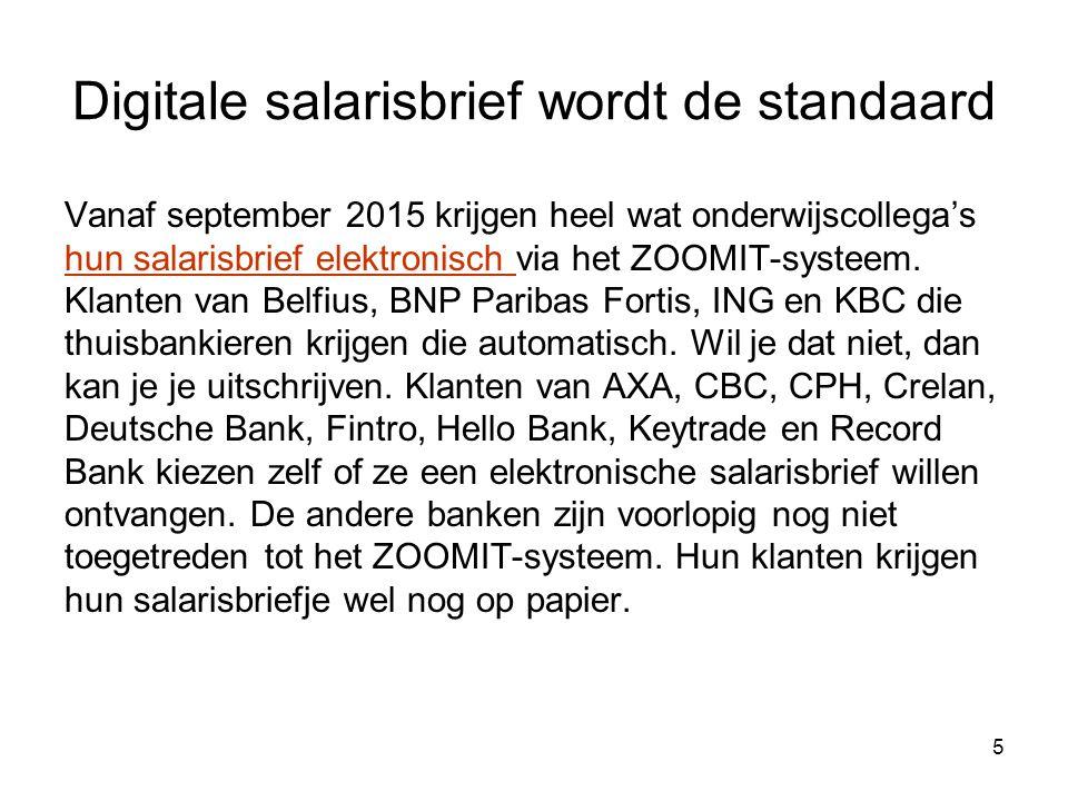 Voorbeeld uitgestelde bezoldiging Onderwijzer geboren op 21/10/1992 –komt in dienst in onderwijs op 1/9/2013 –voor een opdracht van 22/22 Personeelslid kreeg van 1/9/2013 tot 30/06/2014 een netto-maandsalaris van 1544,58 euro uitbetaald.