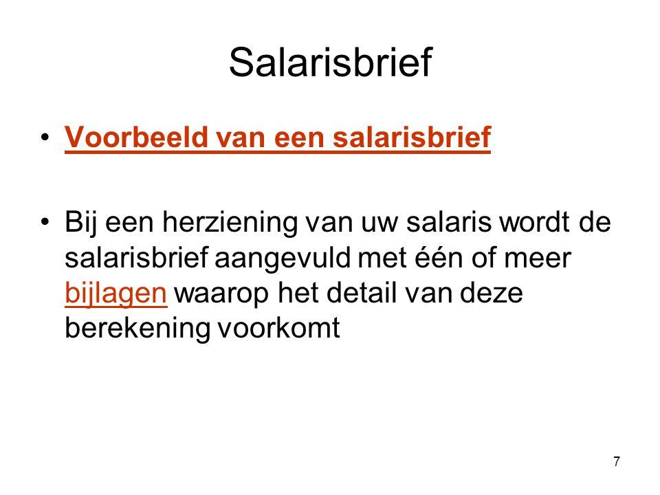 8 Salarisbrief: geldelijke anciënniteit Onderwijsdiensten Andere diensten: bv.