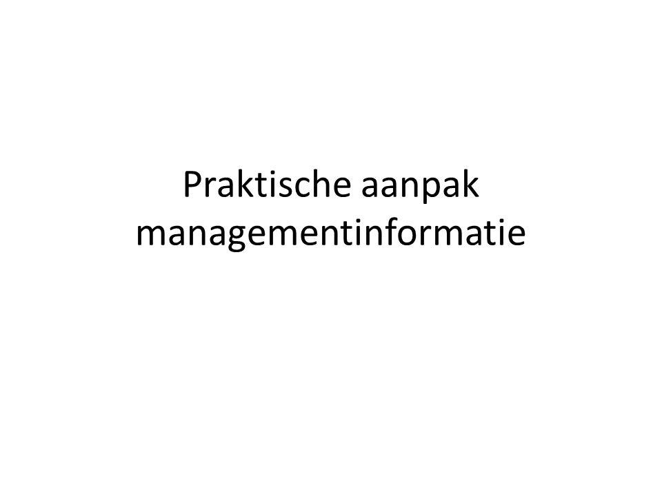 Praktische aanpak managementinformatie