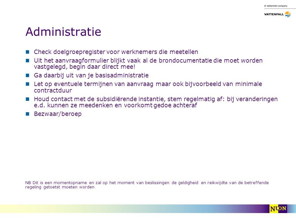 Administratie Check doelgroepregister voor werknemers die meetellen Uit het aanvraagformulier blijkt vaak al de brondocumentatie die moet worden vastgelegd, begin daar direct mee.