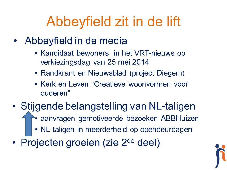 Abbeyfield zit in de lift Abbeyfield in de media Kandidaat bewoners in het VRT-nieuws op verkiezingsdag van 25 mei 2014 Randkrant en Nieuwsblad (proje