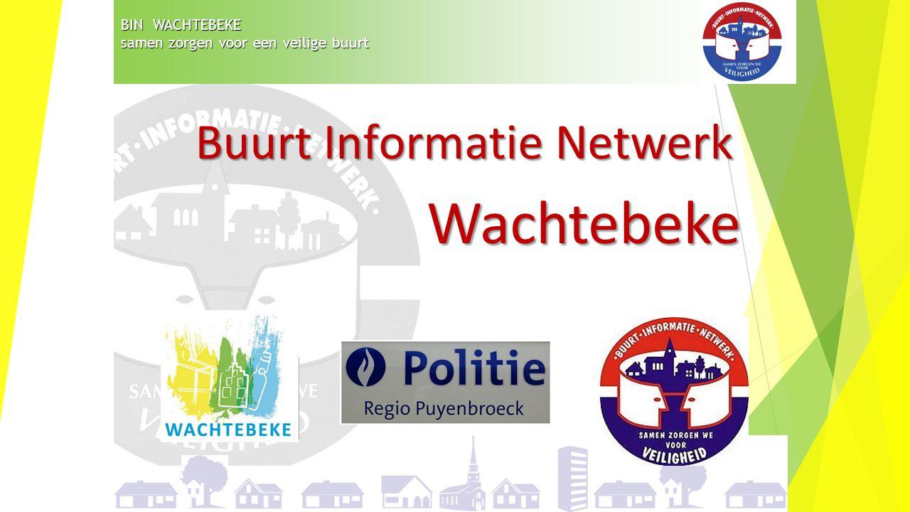 BIN WACHTEBEKE samen zorgen voor een veilige buurt Buurt Informatie Netwerk Wachtebeke