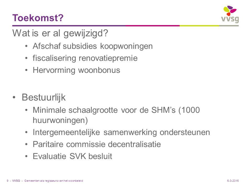 VVSG - Toekomst.