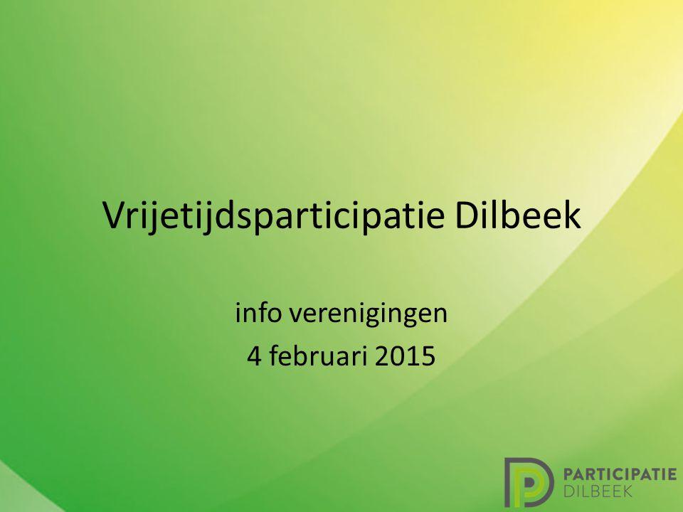 Vrijetijdsparticipatie Dilbeek info verenigingen 4 februari 2015