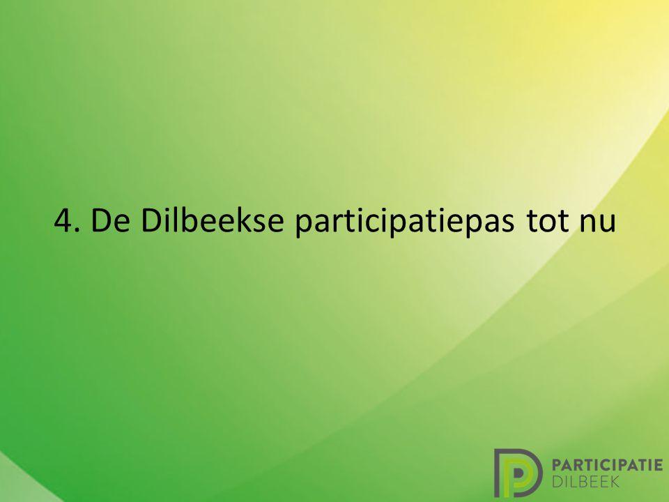 4. De Dilbeekse participatiepas tot nu