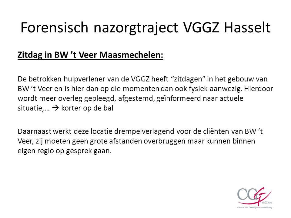"""Forensisch nazorgtraject VGGZ Hasselt Zitdag in BW 't Veer Maasmechelen: De betrokken hulpverlener van de VGGZ heeft """"zitdagen"""" in het gebouw van BW '"""