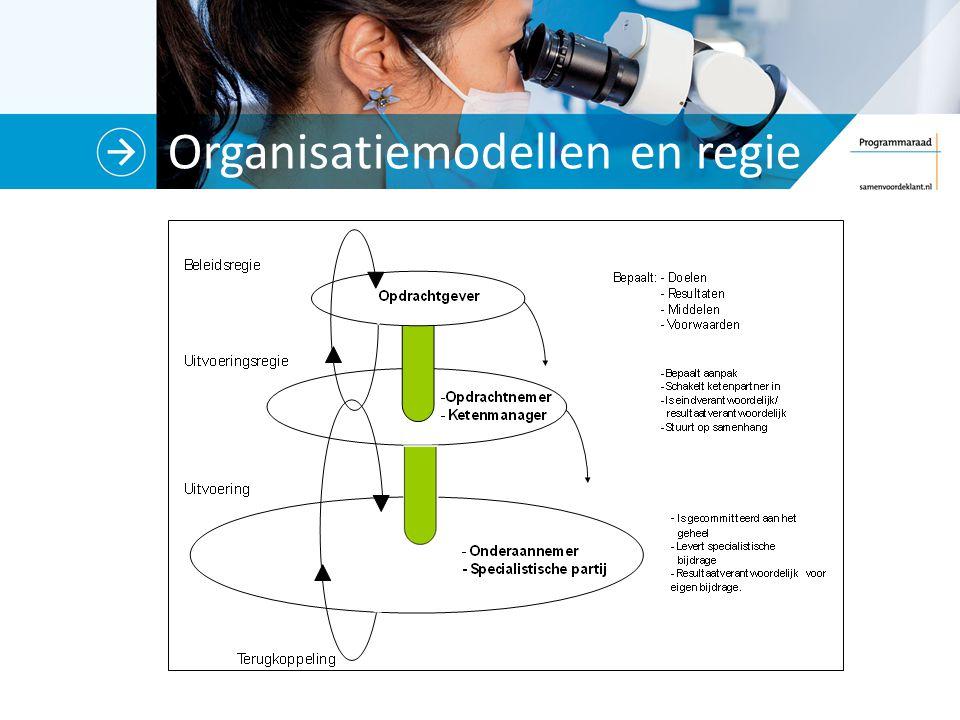 Organisatiemodellen en regie