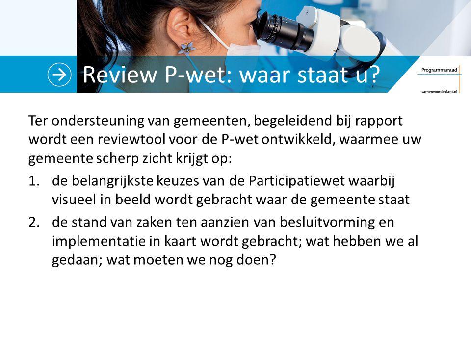 Review P-wet: waar staat u.