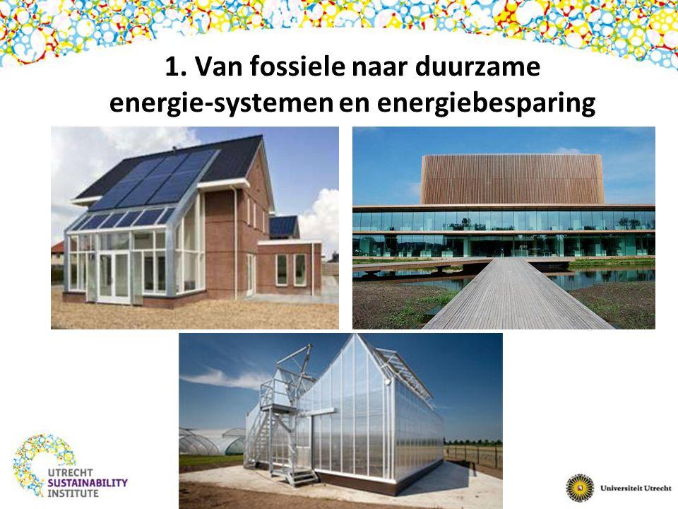 1. Van fossiele naar duurzame energie-systemen en energiebesparing