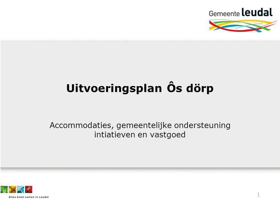 1 Uitvoeringsplan Ôs dörp Accommodaties, gemeentelijke ondersteuning intiatieven en vastgoed