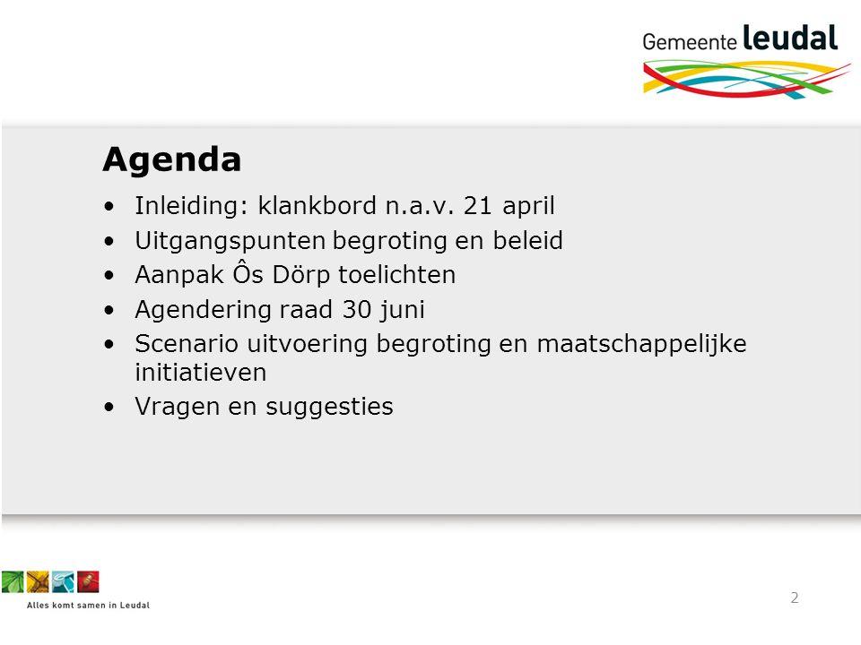 3 Waar willen we naar toe.Taakstelling halen (begroting 2015-2018) € 4,2 mln.