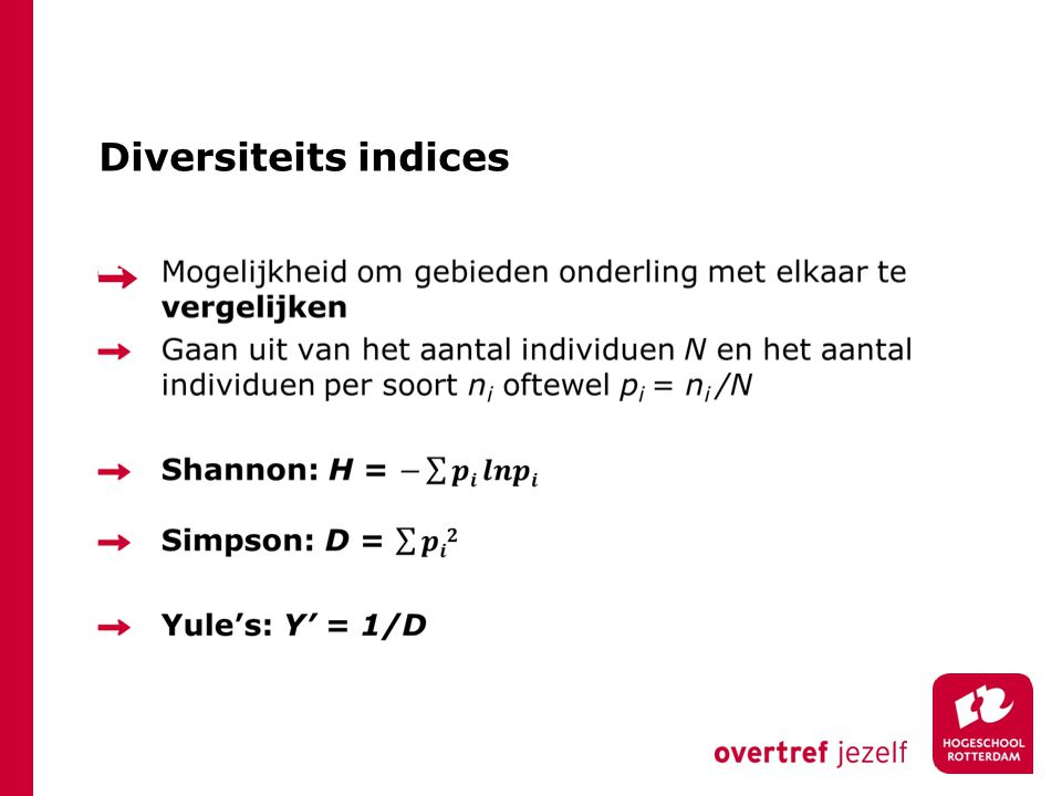 Diversiteits indices