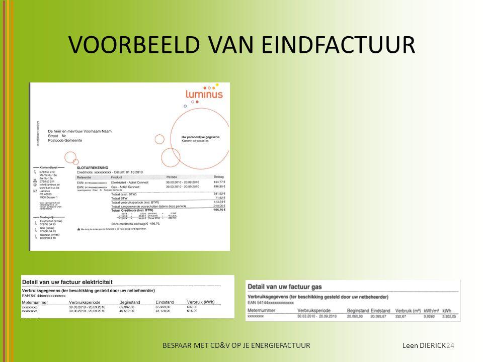 VOORBEELD VAN EINDFACTUUR BESPAAR MET CD&V OP JE ENERGIEFACTUUR Leen DIERICK24