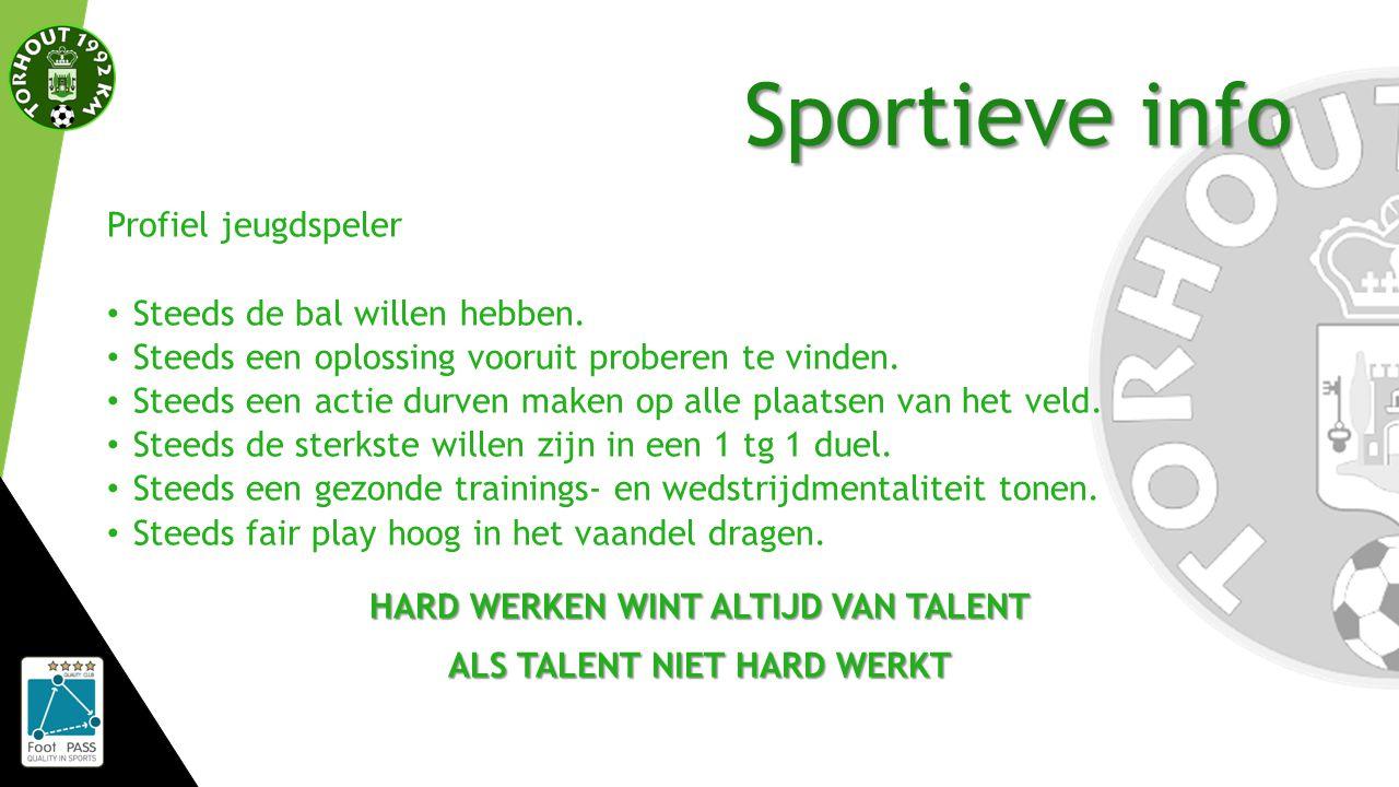 Sportieve info Profiel jeugdspeler Steeds de bal willen hebben.