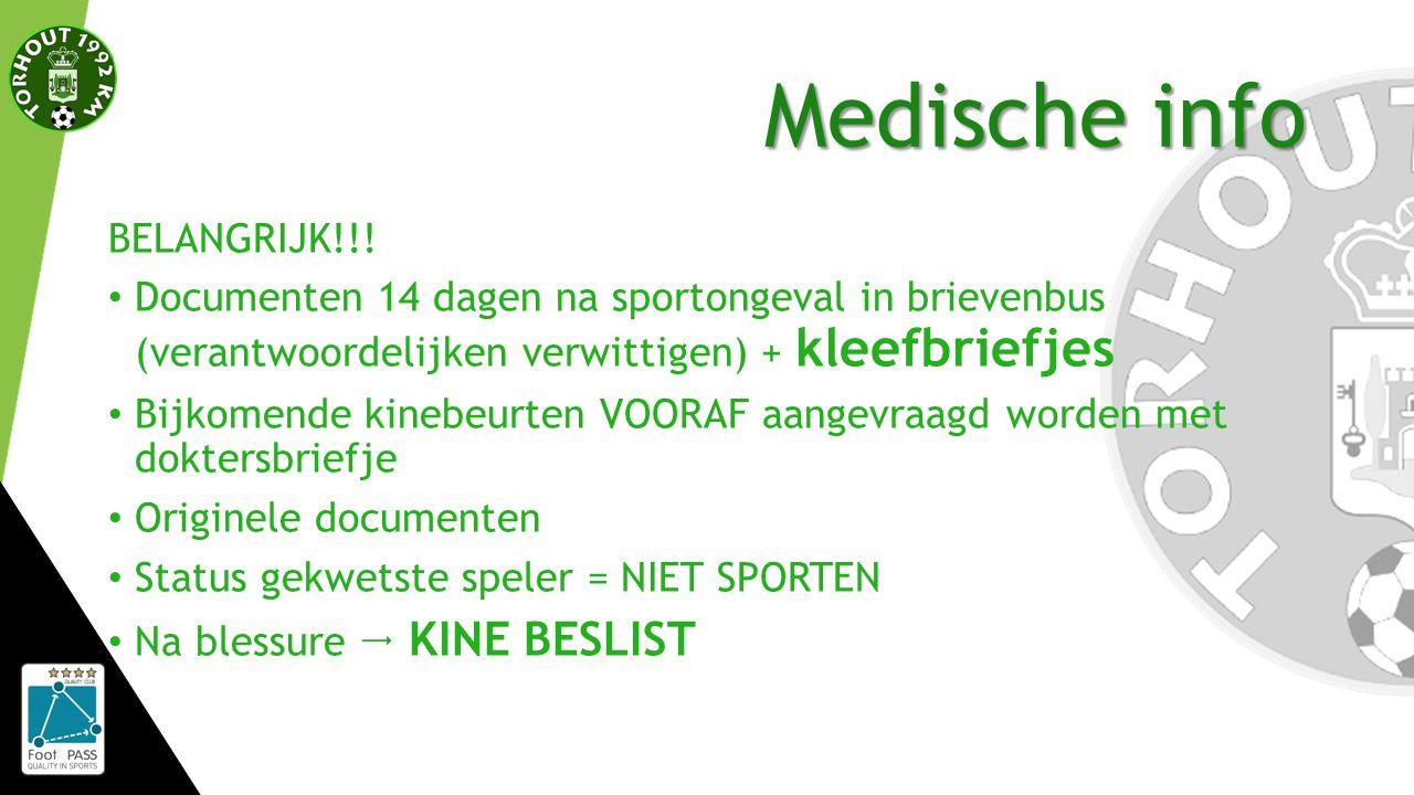 Medische info BELANGRIJK!!.