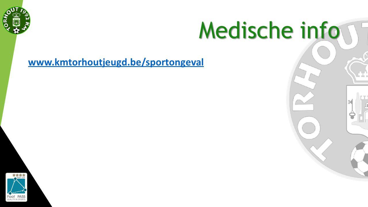 Medische info www.kmtorhoutjeugd.be/sportongeval