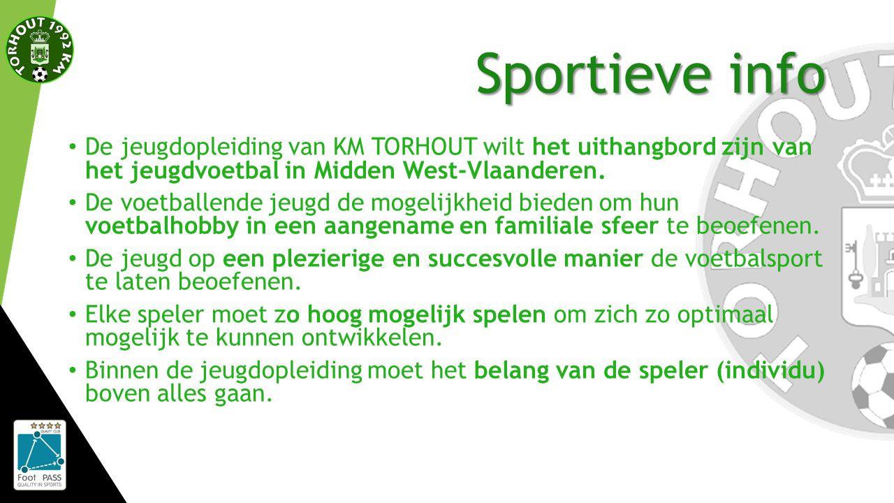 Sportieve info De jeugdopleiding van KM TORHOUT wilt het uithangbord zijn van het jeugdvoetbal in Midden West-Vlaanderen.