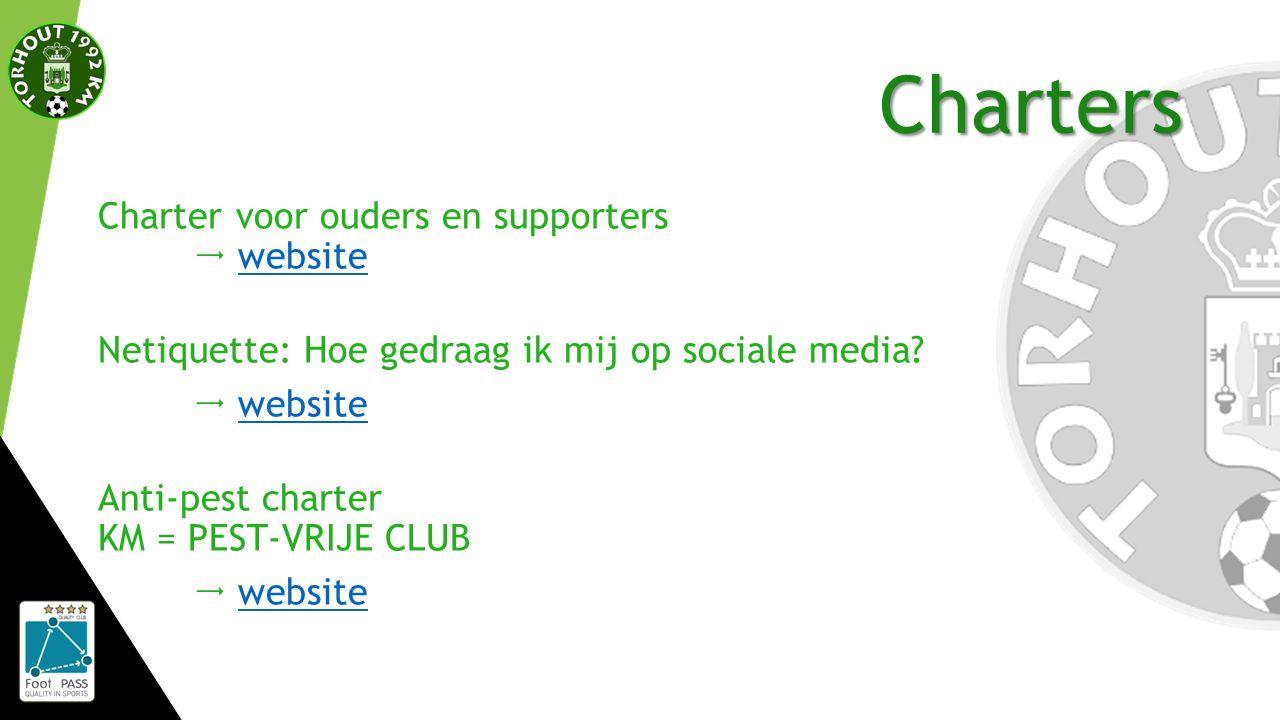 Charters Charter voor ouders en supporters  websitewebsite Netiquette: Hoe gedraag ik mij op sociale media.