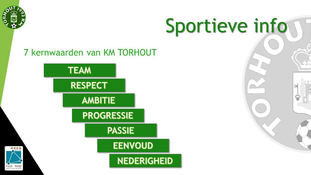 Sportieve info 7 kernwaarden van KM TORHOUT