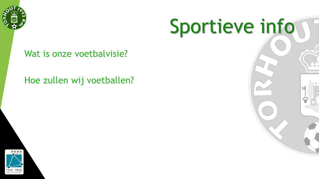 Sportieve info Wat is onze voetbalvisie? Hoe zullen wij voetballen?