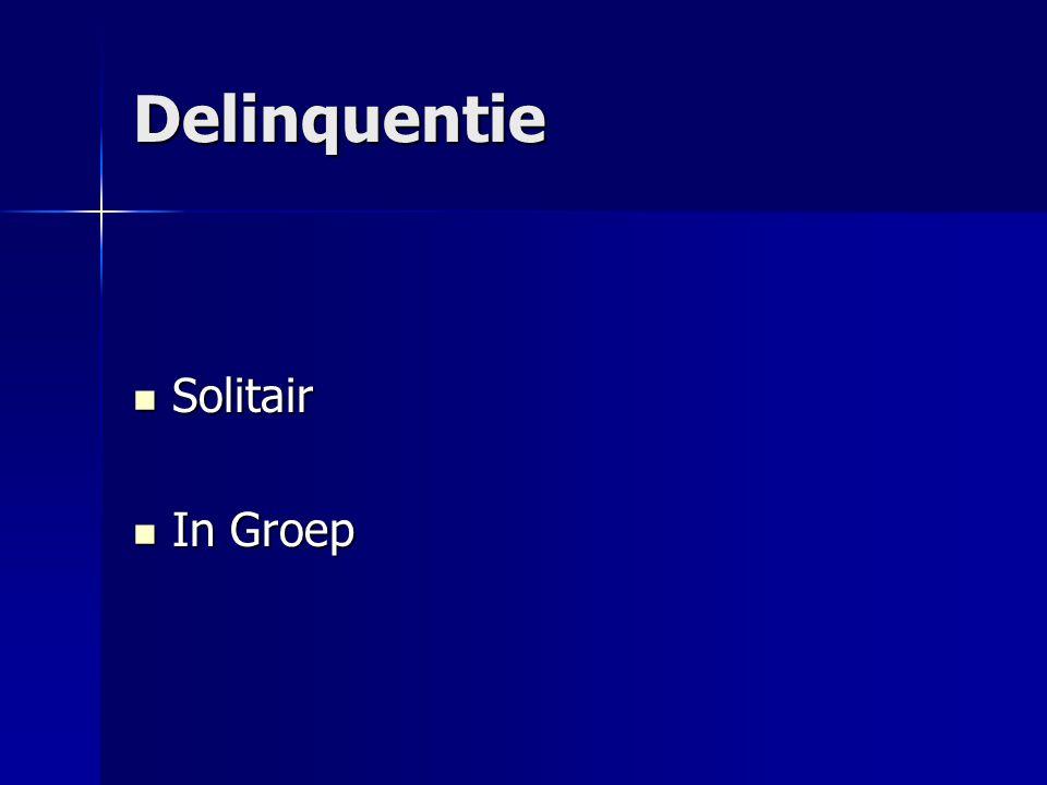 Delinquentie Solitair Solitair In Groep In Groep