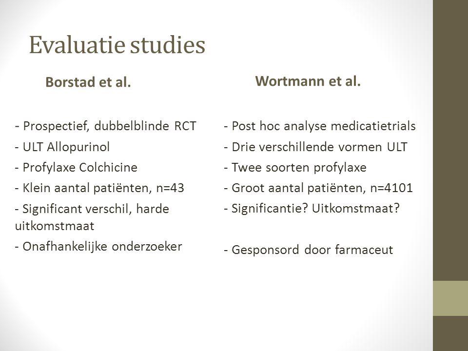 Evaluatie studies Borstad et al.
