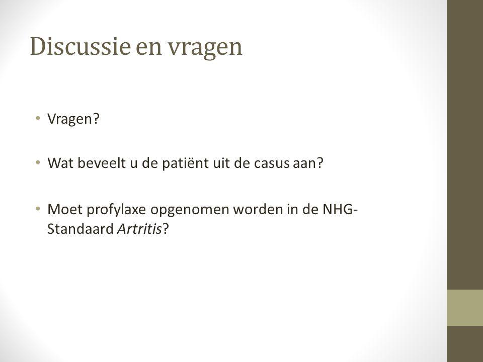 Discussie en vragen Vragen.Wat beveelt u de patiënt uit de casus aan.