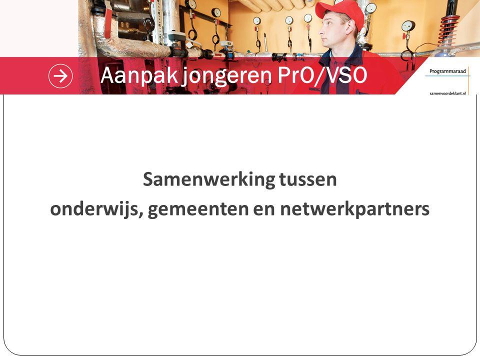 Aanpak jongeren PrO/VSO Samenwerking tussen onderwijs, gemeenten en netwerkpartners
