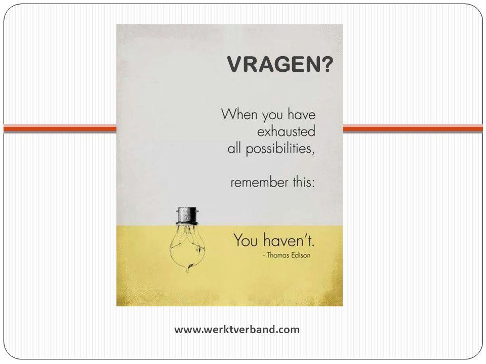 VRAGEN? www.werktverband.com