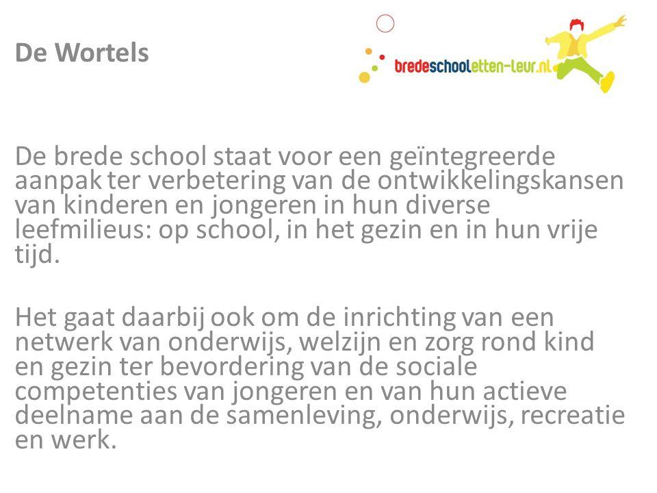 Pedagogisch De brede schoolaanpak is erop gericht om het vermogen van kinderen te stimuleren om zelf hun eigen omgeving de beste melange aan ontwikkelingsmogelijkheden te vinden.