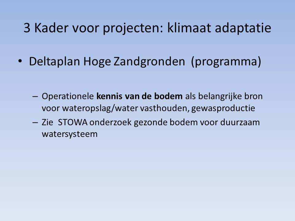 3 Kader voor projecten: klimaat adaptatie Deltaplan Hoge Zandgronden (programma) – Operationele kennis van de bodem als belangrijke bron voor waterops