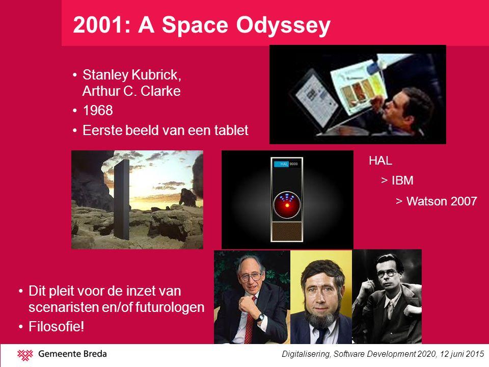 2001: A Space Odyssey Stanley Kubrick, Arthur C. Clarke 1968 Eerste beeld van een tablet Dit pleit voor de inzet van scenaristen en/of futurologen Fil