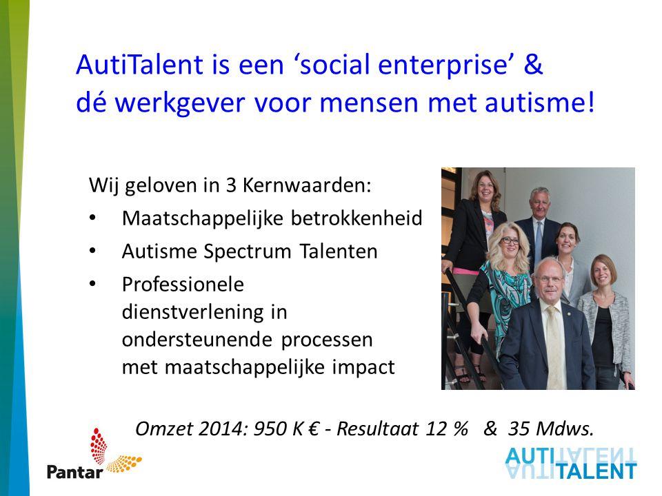 AutiTalent is een 'social enterprise' & dé werkgever voor mensen met autisme.